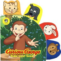 ���������Curious George Hide-and-Seek PBS Shaped Animal Tab Novelty Board Book